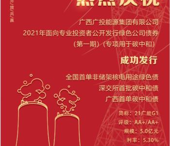 """<em>广投能源集团</em>成功发行深交所首批暨广西首单""""碳中和""""债券"""