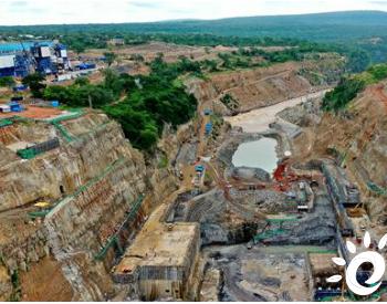 坦桑尼亚水电站项目大坝基坑开挖完成