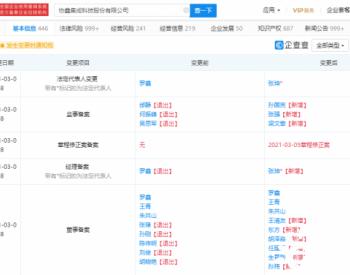 罗鑫退出<em>协鑫集成</em>法定代表人 由张坤接任
