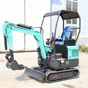 四轮液压17型全新挖掘机,开挖水沟河道多用挖机