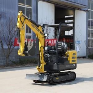 挖掘机 果园挖土机农用挖掘机HW-18多功能小挖机一机多用