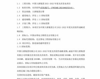 招标 | 中国<em>大唐集团</em>光伏组件框架采购招标
