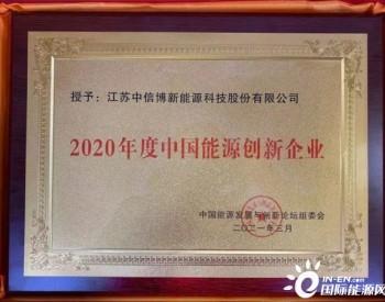 """荣膺""""2020年度中国能源创新企业奖"""",<em>中信博</em>BIPV助力能源变革"""