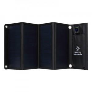 haogood HS28数显太阳能充电器28W户外光伏折叠包
