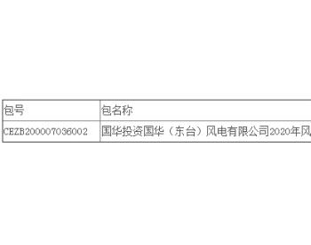 中标丨国华投资国华(东台)风电有限公司2020年风机备件采购公开招标中标结果公告