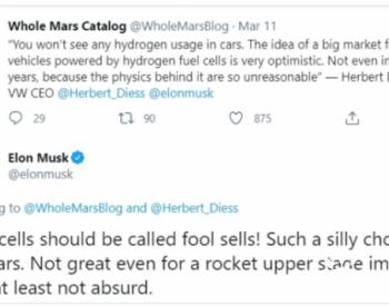 特斯拉大众联手押注氢燃料电池