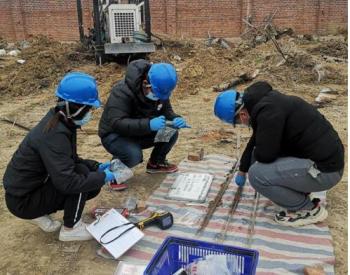 山东地矿一院1地块土壤污染状况调查项目开工