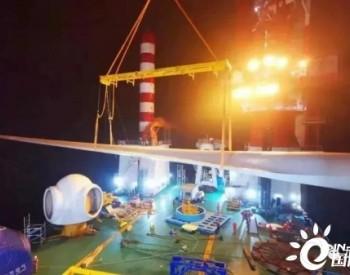 国内最长叶片、最大直径叶轮7MW<em>海上风机</em>安装