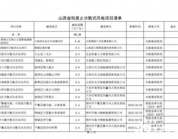 山西省能源局发文:废止59.29万千瓦的分散式风电项目!