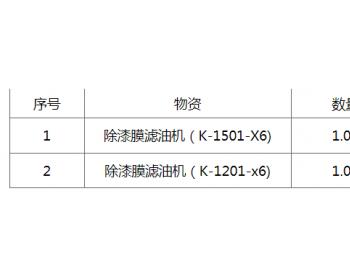 招标 | 中国石油化工股份有限公司茂名分公司茂名分公司40万吨/年粗裂解气制乙苯/苯乙烯项目除漆膜滤油机招标公告