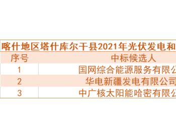 中标 | 国网综合能源、华电预中标新疆喀什100MW光伏和储能项目竞争性配置