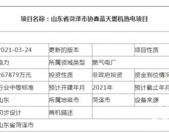 山东省菏泽市协鑫蓝天燃机热电项目