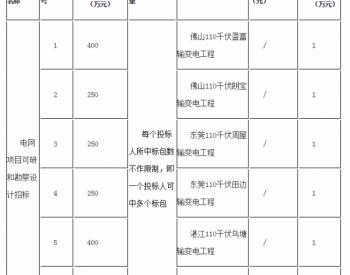 招标 | 广东佛山110千伏盈富输变电工程等6项工程