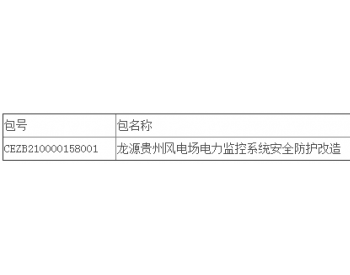 中标丨贵州威宁马摆大山、麻窝山、大海子、梅花山风电场电力监控系统安全防护改造项目公开招标中标结果公告