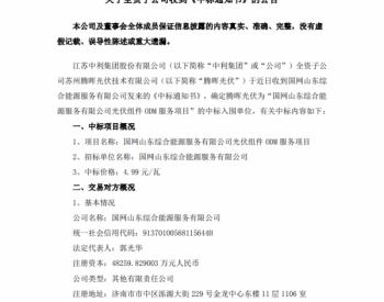 4.99元/W!腾晖光伏中标国网光伏组件ODM服务项目