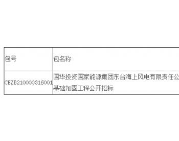 中标丨江苏东台四期(H2)300MW海上风电场风机基础加固工程公开招标中标结果公告