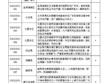 贵州省第四生态环境保护督察组转交毕节市办理群众信访举报每日公开情况(3月31日)