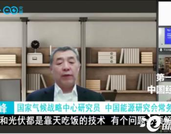 李俊峰:风电和光伏都是靠天吃饭的技术 有个问题必须解决