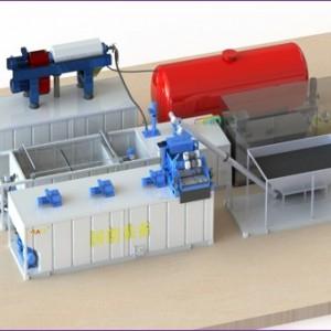 含油污泥常温水洗减量化处理装置 含油≤2%