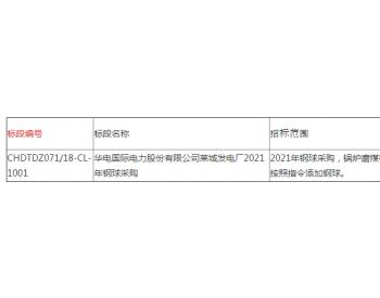 招标 | 华电国际电力股份有限公司莱城发电厂2021
