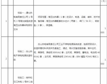 招标 | 吉林电力股份有限公司2021年生产工程遗留标段(二)集中招标公告