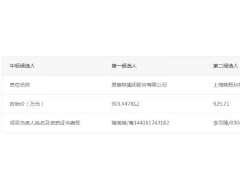 中标 | 广梅生态产业创新空间及大数据产业园分布式光伏项目EPC总承包中标候选人的公示