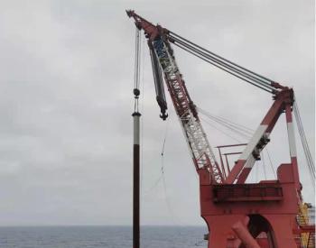 广东阳江青洲三500兆瓦海上风电项目首个机位沉桩工作顺利完成!
