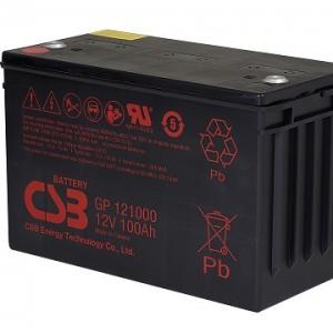 CSB蓄电池GP121000/12V100AH免维护 长寿命