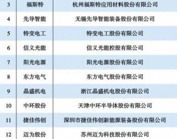2021光伏企业发展力TOP15