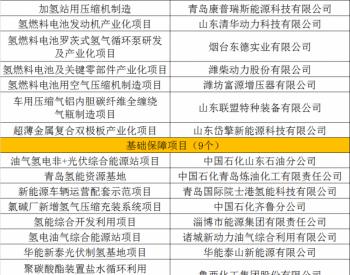 山东省20个氢能重大示范项目名单出炉!