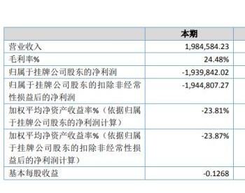 ST汉能碳2020年亏损193.98万 疫情影响下<em>光伏产品</em>销售量减少