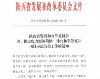 陕西省启动源网荷储一体化和多能互补项目申报工作