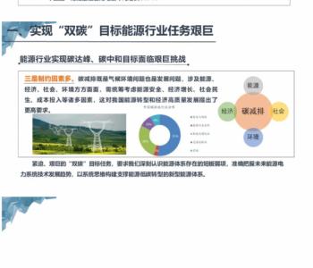 国家能源局电力安全监管司司长童光毅:基于双碳目