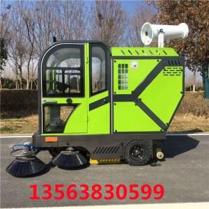 腾阳电动驾驶式扫地车智能化作业