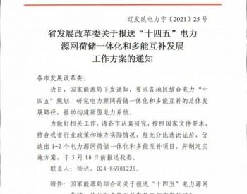 辽宁省启动源网荷储、多能互