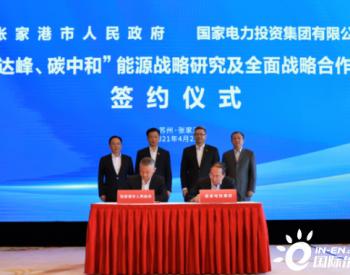 国家电投与江苏张家港市签约战略合作协议