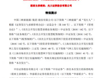 定价2.65元/股!三峡新能源路演、申购推迟!