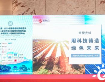 """又又又得奖啦,禾望电气荣登""""20强排行榜""""!"""