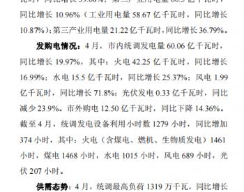 平均购电价让利0.2217分/千瓦时!重庆披露2021年4月电力交易信息