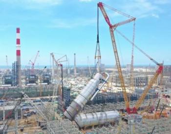 """中石油广东石化炼化一体化项目<em>乙烯装置</em>3天完成""""超限双塔""""吊装"""