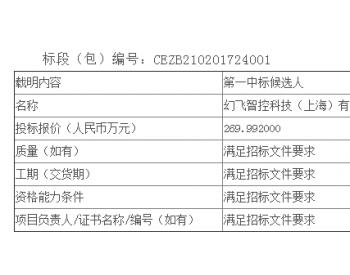 中标丨广西白花山风电场一体化智慧管控平台-数据分析、智能安防、<em>智能巡检</em>模块公开招标中标候选人公示