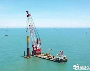 中交海建承建,广东徐闻<em>海上风电场</em>项目Ⅱ风机基础吊装及沉桩项目完成S37机位沉桩