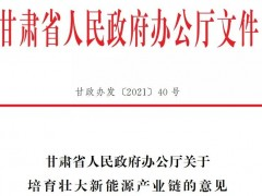 甘肃省政府:确立<em>玉门油田</em>为氢能链主企业,加快推动氢能示范