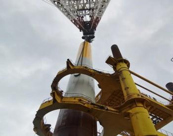 广东汕头市首个<em>海上风电项目</em>首根钢管桩沉桩顺利完成
