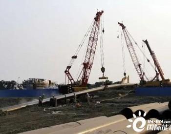 潮州市天然气高压管道工程24条定向钻穿越施工任务全部完工