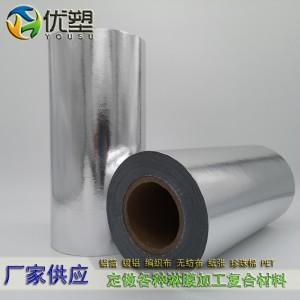 铝箔膜、铝箔淋膜、淋膜铝箔、铝膜编织布、铝箔膜编织