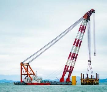龙源电力建成世界首个深水裸岩单桩基础