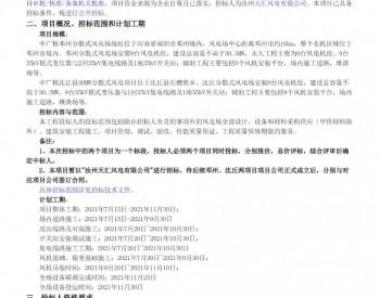 招标丨中广核河南邓州、沈丘分散式风电场EPC总承包采购