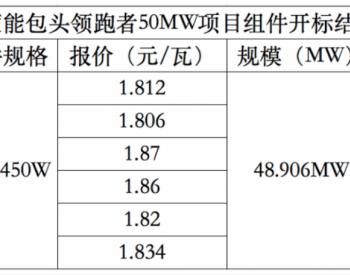 蒙能包头50MW光伏领跑技术基地项目开工 组件价格1.87元/W!
