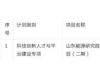 山东省青岛拟拨付1.2亿元年度资金 支持山东能源研究院建设